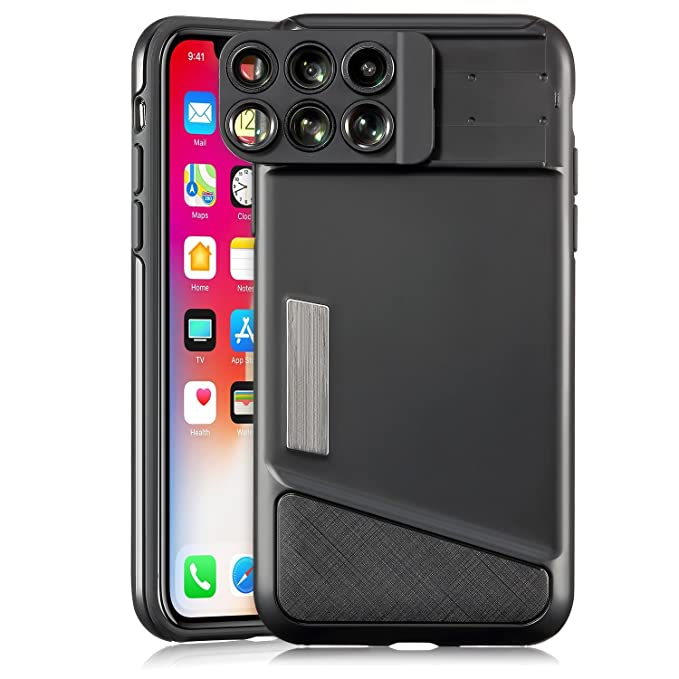 super popular 6aed4 499cc Amazon.com: iPhone X Camera Lens Case, Fisheye, Telephoto, Super ...