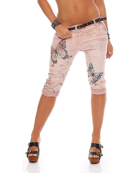 ZARMEXX Pantalones Capri para mujer Pantalones baggy para novio Pantalones vaqueros Pantalones capri estampados con estampado de mariposa Jegging's Capri