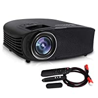 Deals on Dhaws 3800LM 1080P Full HD HDMI Office Video Projector