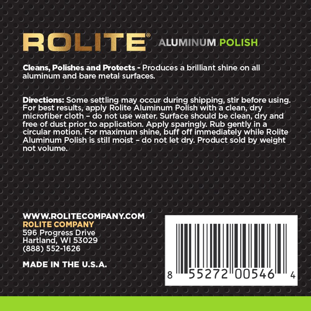 Rolite Aluminum Polish (2lb) for All Aluminum & Bare Metal Surfaces - Canoes, Jon Boats, Pontoons, RVs, Diamond Plate, Aluminum Non-Coated Wheels by Rolite (Image #2)