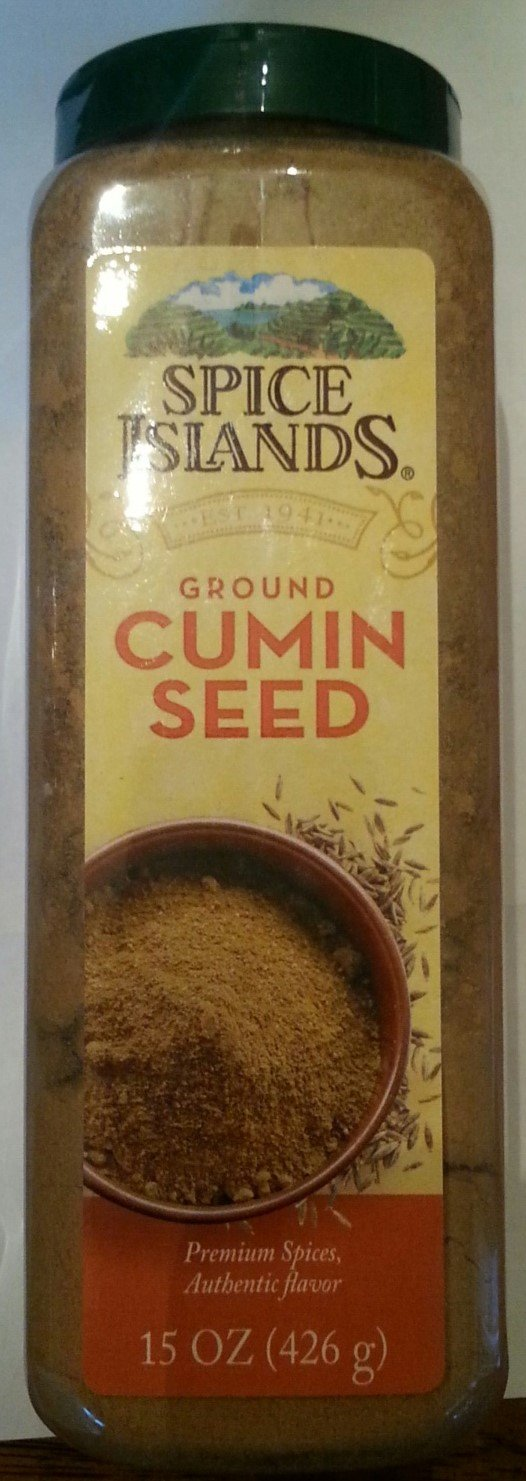 Spice Islands Premium Ground Cumin Seed 15 Oz (426g) Kitchen Bottle