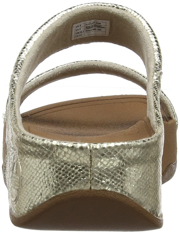 Fitflop Women\u0027s Lulu Slide Lustra Sandals, Pale Gold, 8 UK: Amazon.co.uk:  Shoes \u0026 Bags