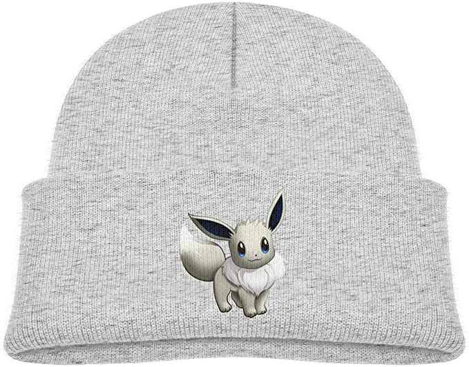Gray Eevee beanie for kids