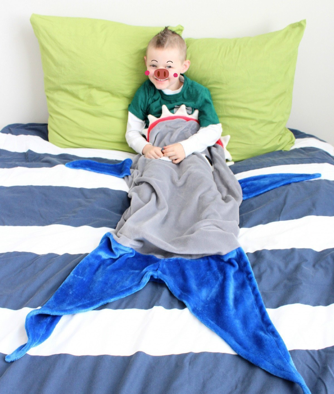 LZYMSZ Manta de tibur/ón Cola para ni/ños Todas Las Temporadas Suave Saco de Dormir de Navidad y Regalos de cumplea/ños para ni/ños y Adolescentes