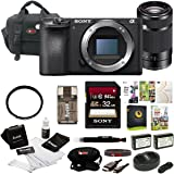 Sony a6500 Mirrorless Camera w/55-210mm Lens + 32GB Deluxe Accessory Kit