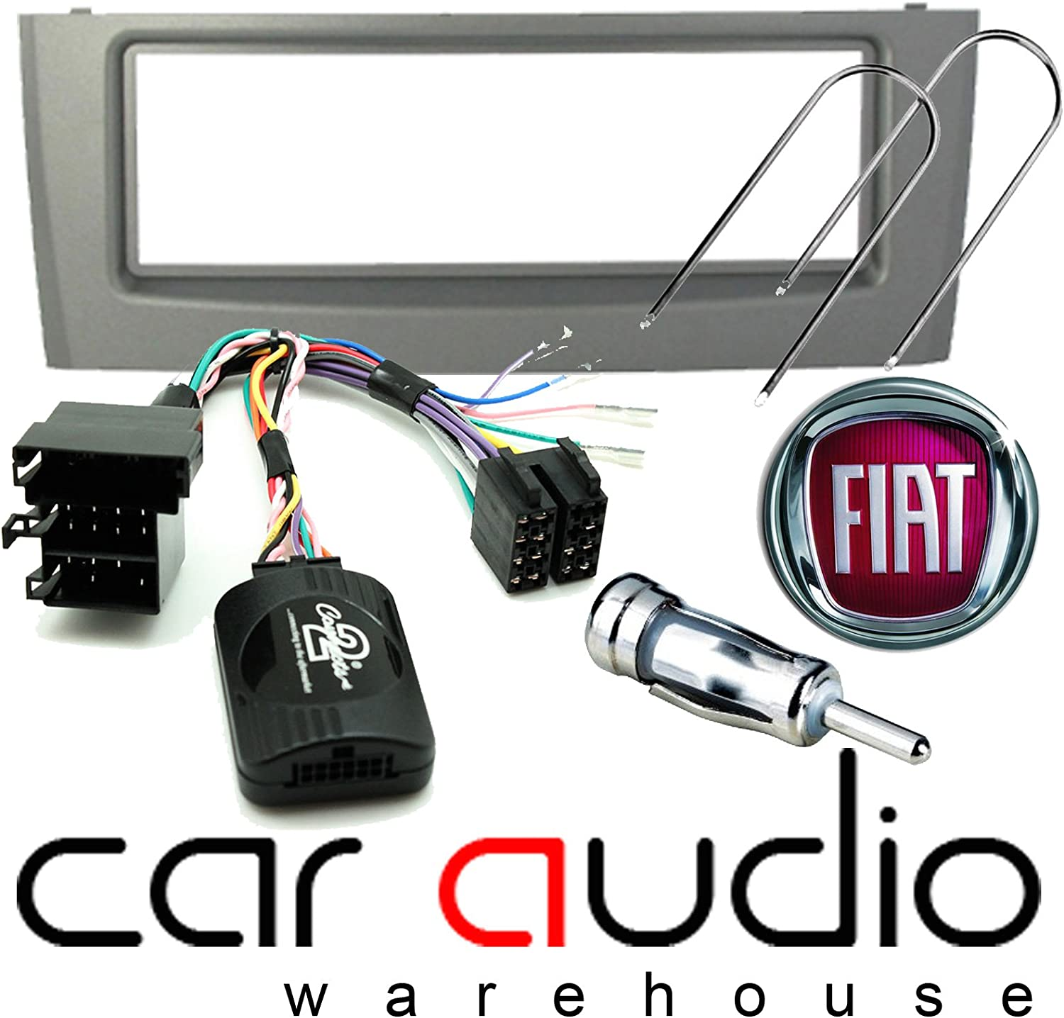 Aerial Adapter and Car Stereo Removal Keys. Steering Stalk Lead T1-Audio T1-CTKVX02 Vauxhall Insignia 2009 Complete Double Din Car Stereo Facia Fitting Kit Black Double Din Facia Panel