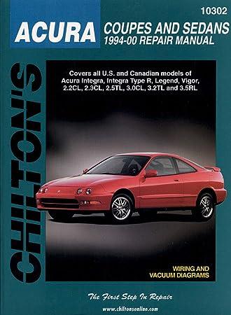 Amazon.com: Chilton Acura Coupes and Sedans 1994-2000 Repair Manual on