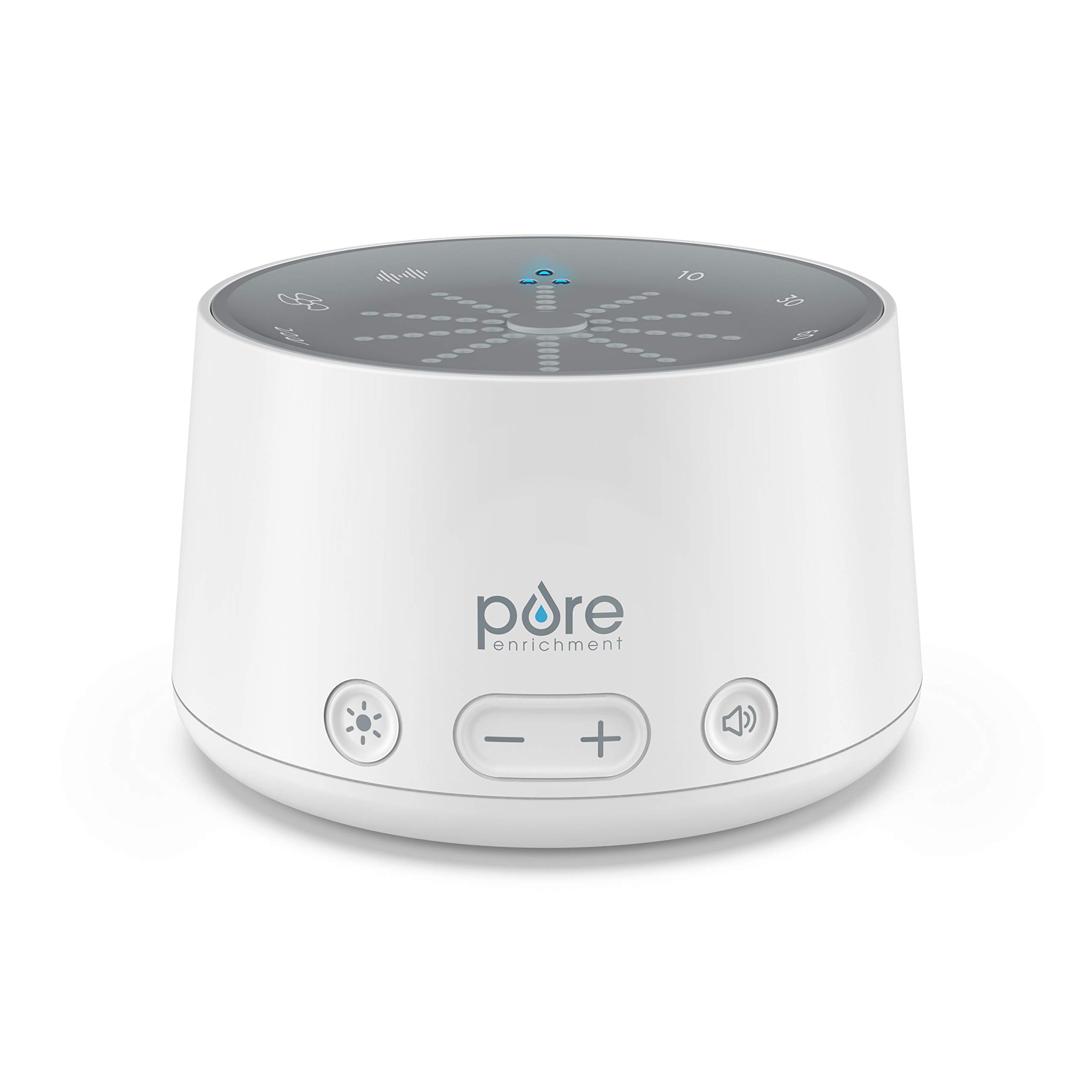 Pure Enrichment Doze Sound Machine & Sleep Therapy Light - Combines 6 Soothing Sounds with Relaxing Pulse Light for Better Sleep - Includes Built-in USB Charger & Auto-Off Timer