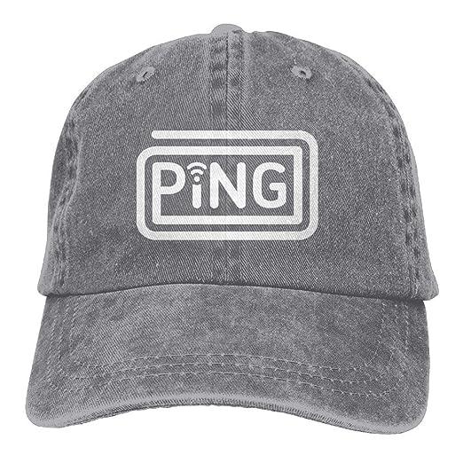 26a63d78 Amazon.com: JKJS LDFO Ping Unisex Baseball Cap Dad Hat Snapback Hats:  Clothing