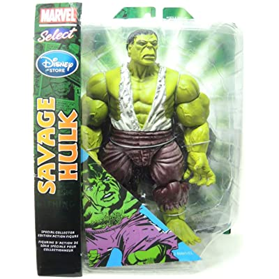 "Marvel Select Exclusive Action Figure Savage Hulk - 10"": Toys & Games"