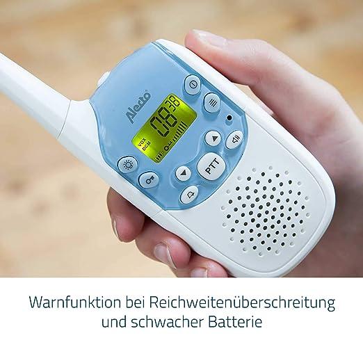 Alecto DBX 82 PMR Babyphone hohe Reichweite von bis zu 2 km mit einem beleuchtetem Display, Verbindungskontrolle und erweiterbar auf bis zu 8