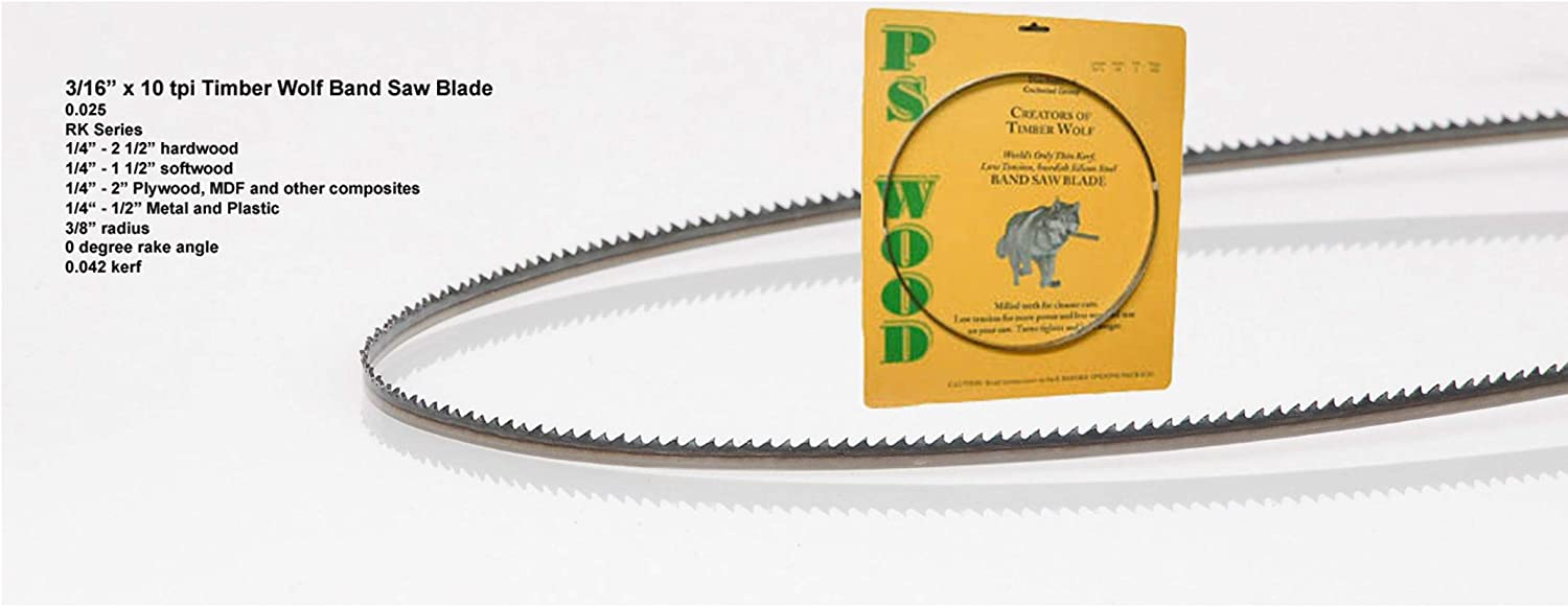 """Timber Wolf Bandsaw Blade 3/16"""" x 93-1/2"""", 10 TPI"""