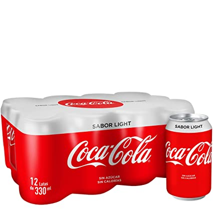 Coca-Cola - Light, Refresco con gas de cola, 330 ml (Pack