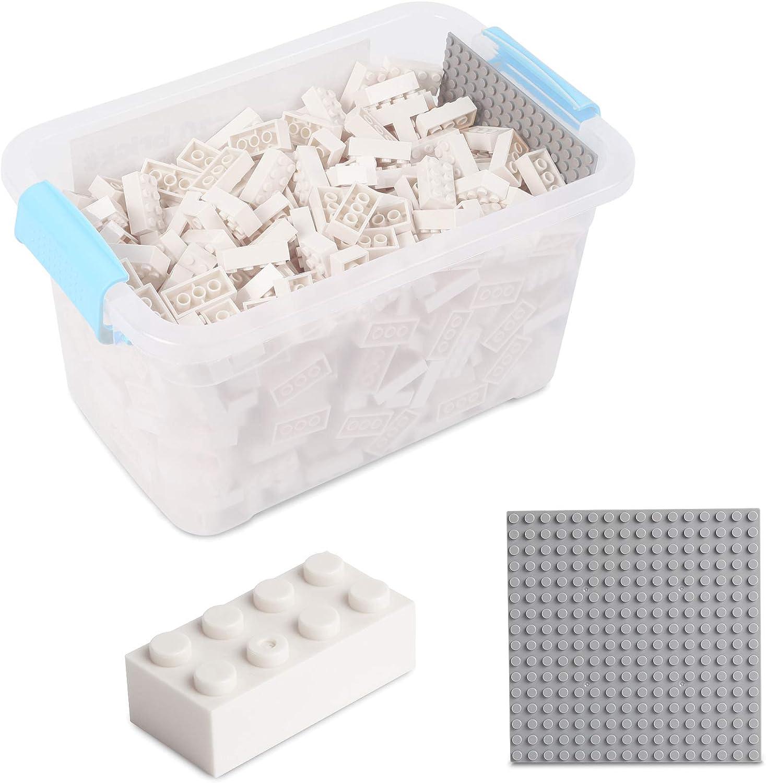Katara Juego De 520 Ladrillos Creativos En Caja Con Placa De Construcción 100% Compatibles Con Lego Classic, Sluban, Papimax, Q-bricks, Color Blanco (1827) , color/modelo surtido: Amazon.es: Juguetes y juegos