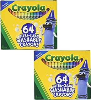 product image for 52-3287 Ultra Clean Washable Crayons, 64 Classic Colors with Built in Sharpener Assorted, Standard - 2 Pack