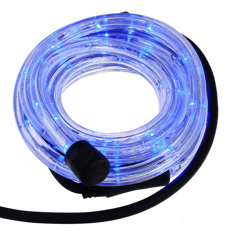 Smartfox LED Lichterschlauch Lichterkette Licht Schlauch 6m für Innen- und Aussenbereich mit 144 LEDs in Gelb