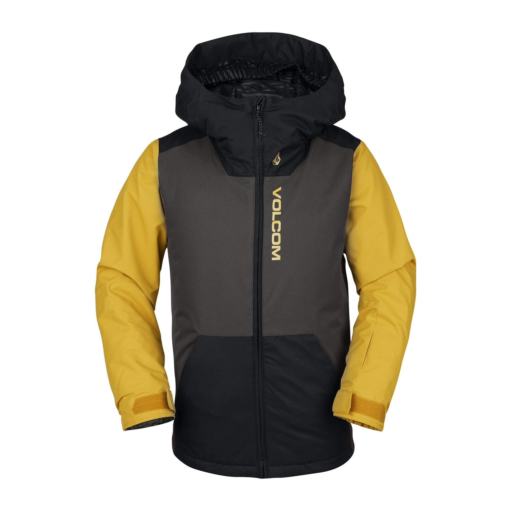 Volcom Boys' Big Vernon Insulated 2 Layer Shell Snow Jacket, Vintage Black, Extra Small by Volcom