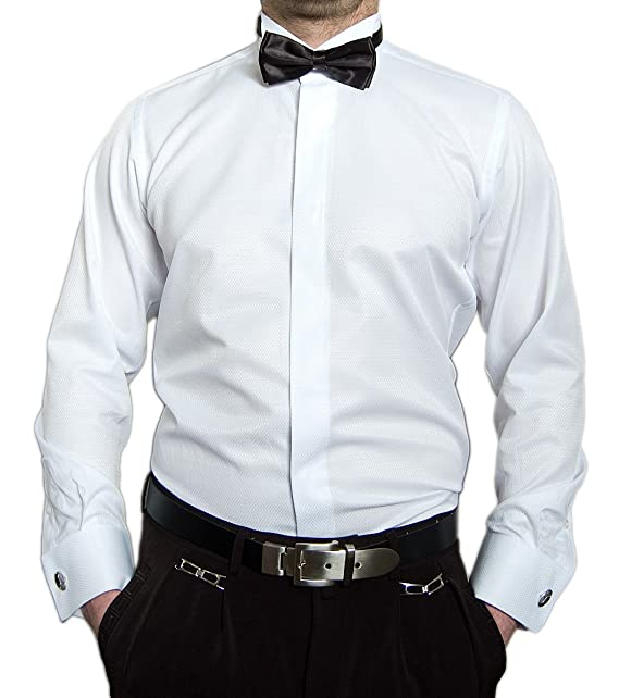 Herren Designer Smoking Hemd Slim Fit Business Hochzeit