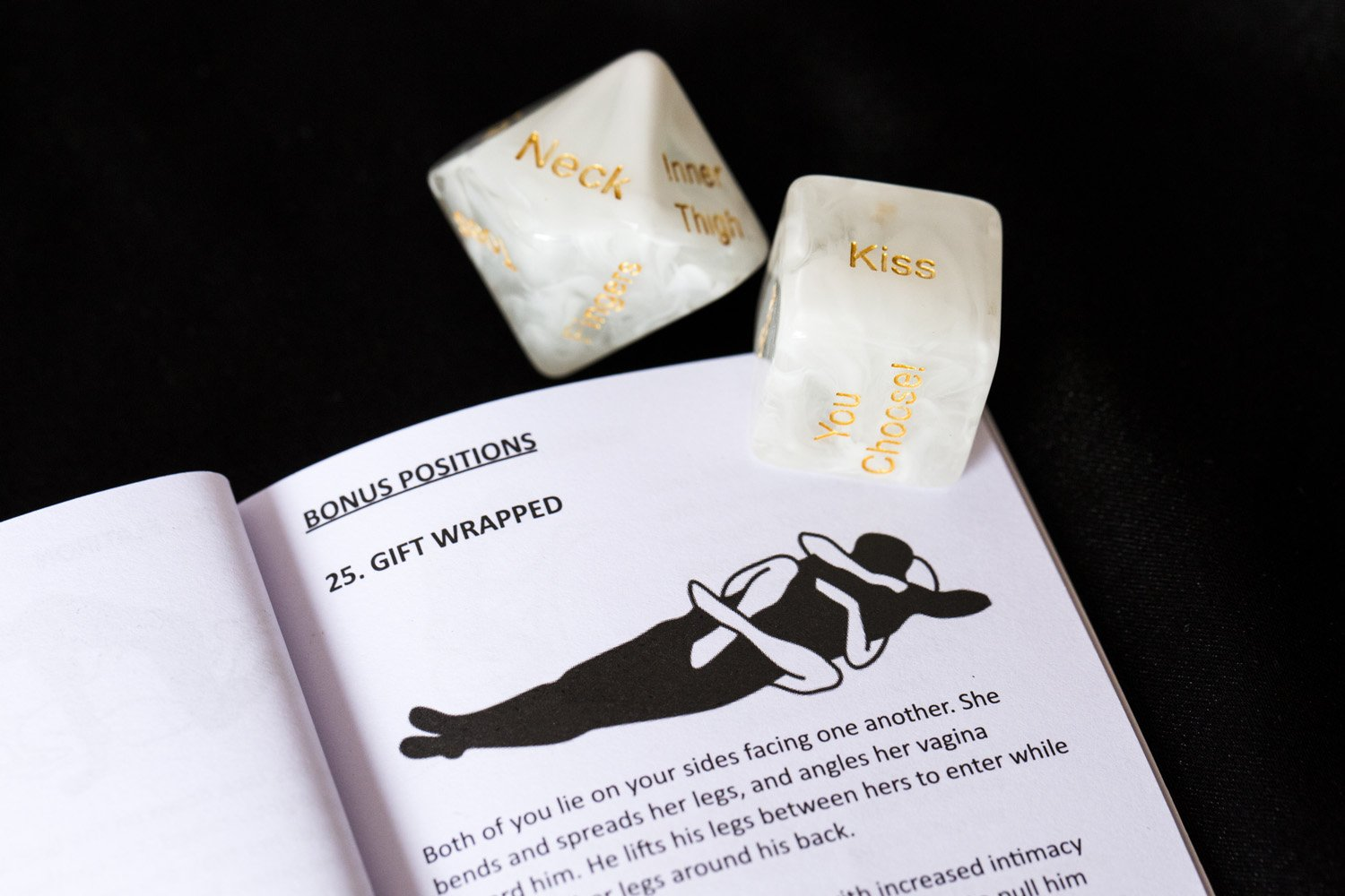 Sex Dice Sex Game for Adult Couples Prime with 34-Position Booklet | Sex Toys & Games for Adults, Beautifully Gift Packaged to Make The Perfect Couples Gift (White) by Dalliance Adult