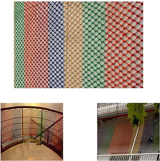 Myself-safety net Escalera de Seguridad Roja Gimnasio Colgando Loro Pared de Malla Protectora Balcón Decorativo Neta Barandilla Niños Gato Red (tamaño: Cuerda de 8MM Orificio de 15 Cm) 2 * 5M: Amazon.es: