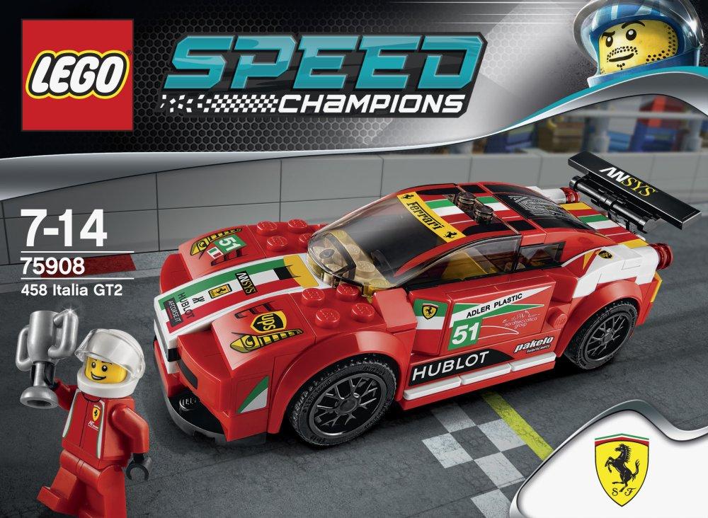 Amazon.com: LEGO Speed Champions 458 Italia GT2 Set (75908): Toys ...