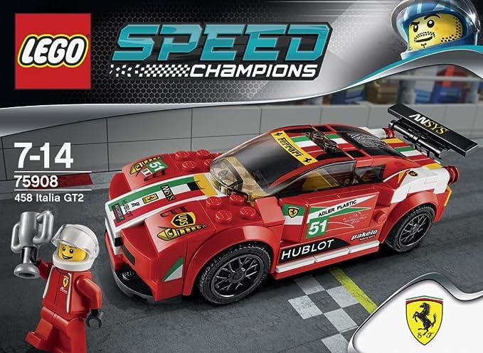 75908 De Speed Gt2 Lego Construction Italia Jeu 458 Champions Ferrari b7IYgv6fy