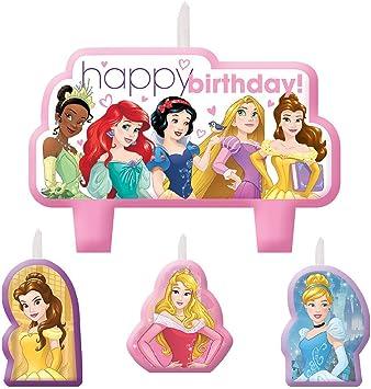 Amazon.com: Princesas Disney vela de cumpleaños Set (Paquete ...