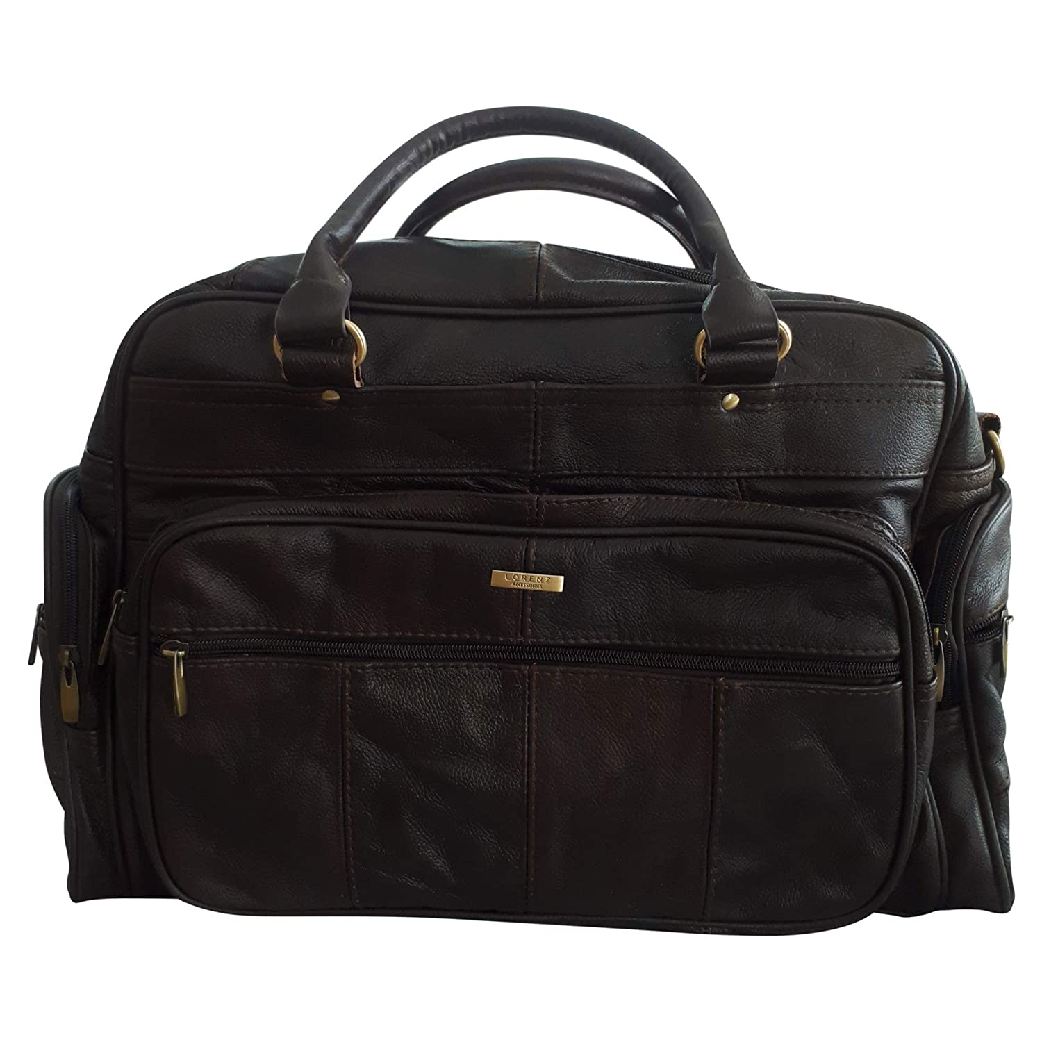 5dc846e3b161 MENS LEATHER HOLDALL LUXURY TRAVEL BAG GYM SPORTS BAG LADIES FLIGHT BAG  CABIN BAG WEEKEND BAG IN BROWN  Amazon.co.uk  Luggage