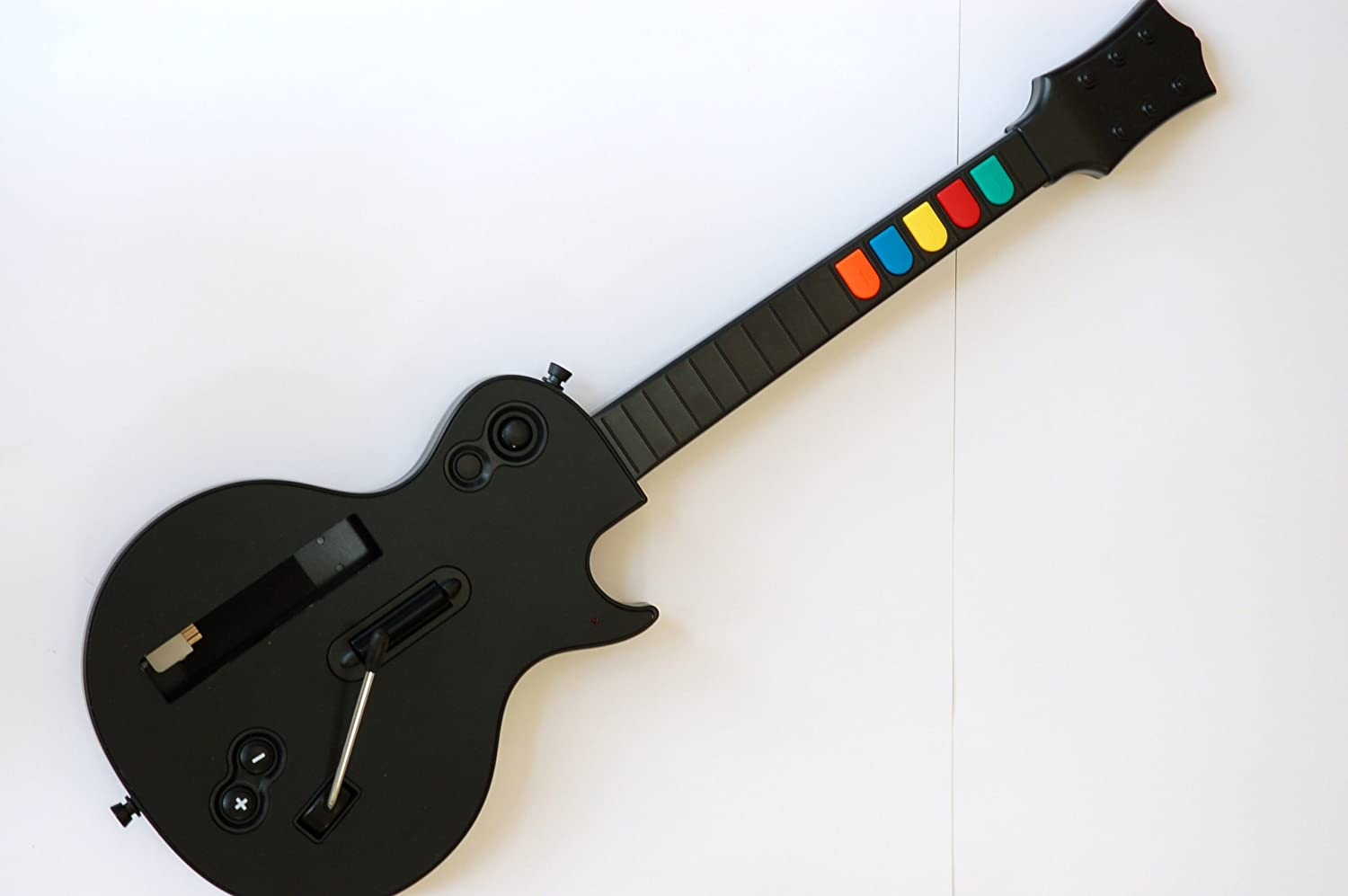 Amazon.com: Wireless Guitar for Wii Guitar Hero and Rock Band Games Color  Black: Video Games