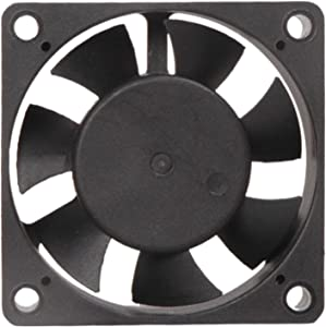 """MAA-KU DC Small Axial Case Cooling Fan. Size : 2.40"""" inches (6x6x2cm), (60x60x20mm), Supply Voltage : 12VDC, Material : Plastic P.B.T, Color : Black."""