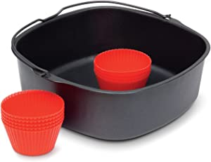 Philips Kitchen Appliances Master Accessory Kit with Baking Pan and Silicone Muffin Cups, XXL models, Black