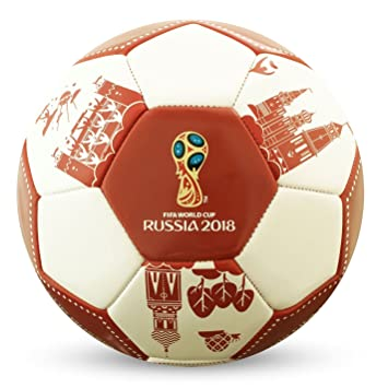 FIFA World Cup 2018 - Balón de fútbol, Color Blanco y Rojo, Color ...