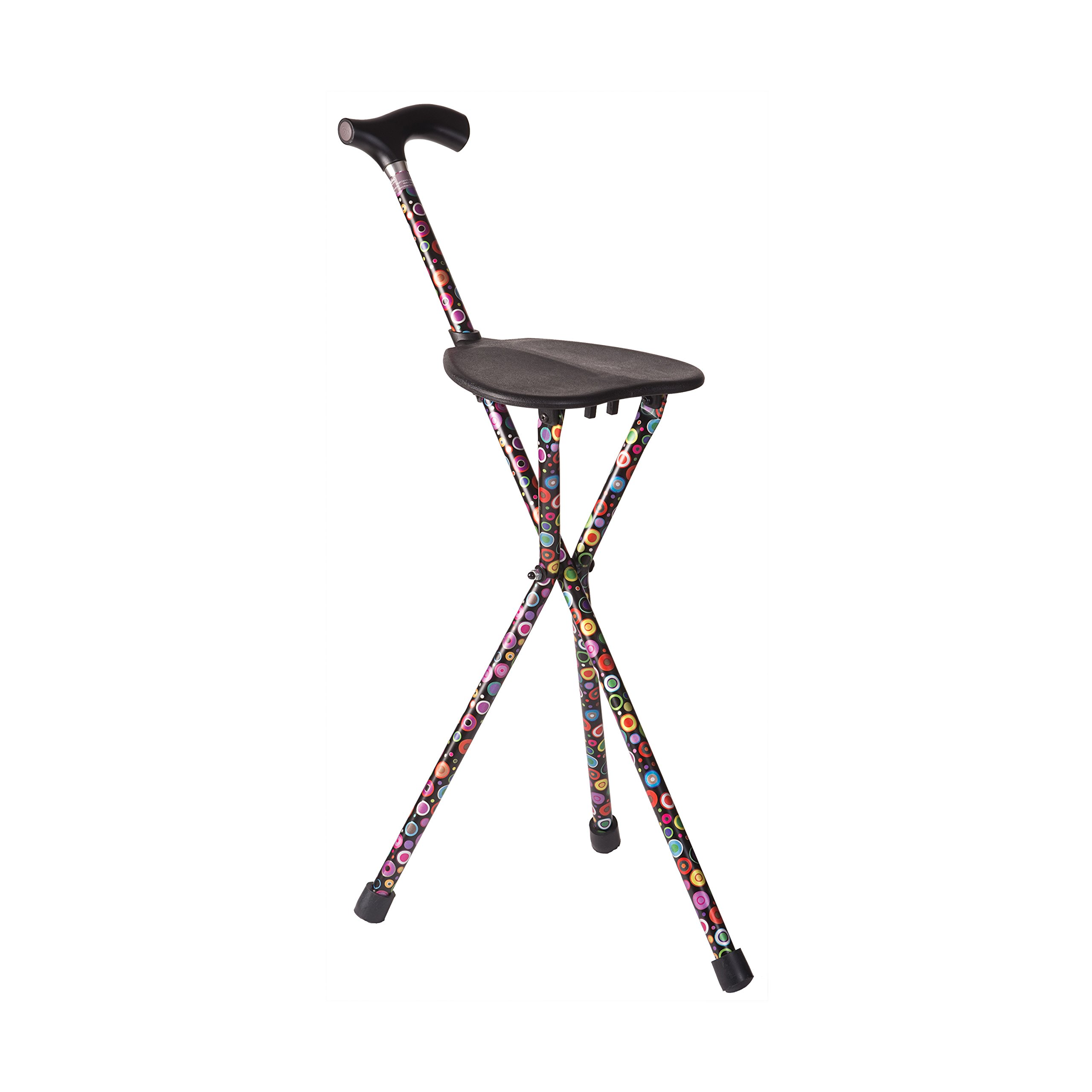 Switch Sticks Walking Stick With Seat, 2-in-1 Folding Walking Stick Seat, Bubbles