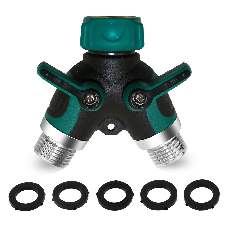 Amazon.com : TedGem Garden Hose Splitter, Ball Valve Hose Connector ...
