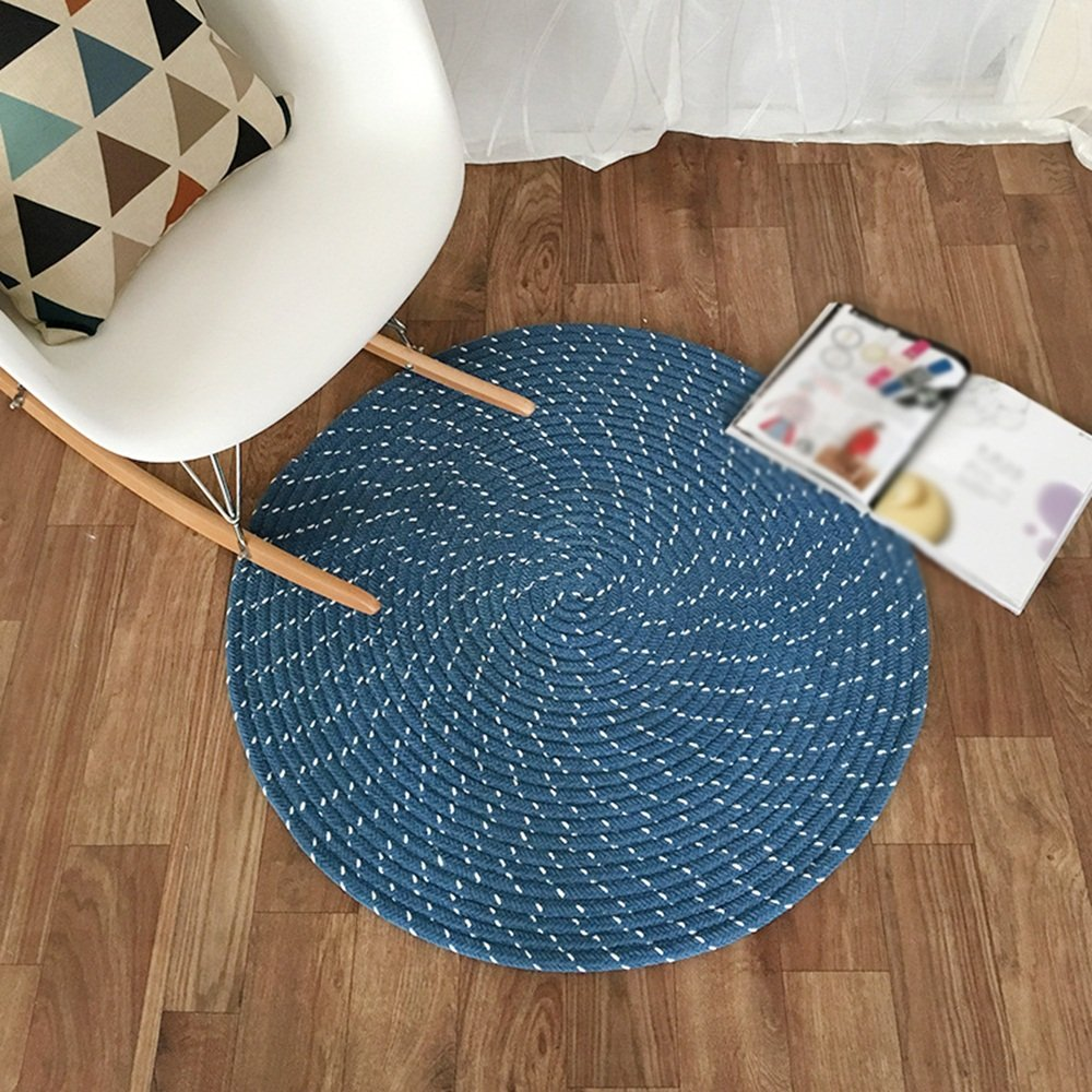 Household Rugs / Chenille Rugs / Computer Chairs / Hanging Mats / Living Room Bedrooms Study Rugs / ( Color : Blue , Size : 150cm )