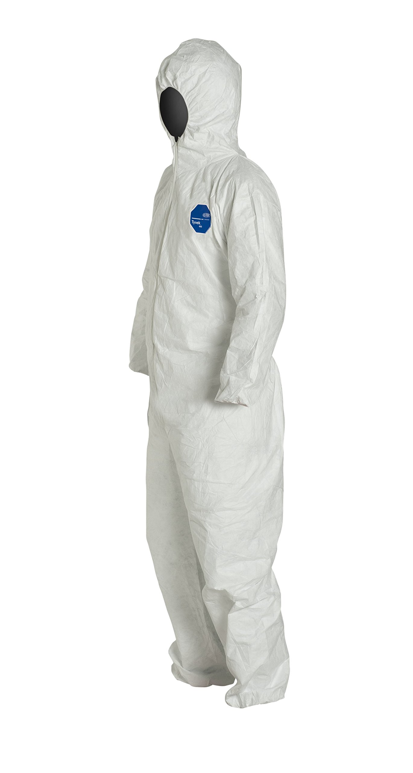 DuPont Tyvek 400 TY127S  Protective Coverall with Hood, Disposable, Elastic Cuff, White, X-Large (Pack of 25) by DuPont (Image #5)