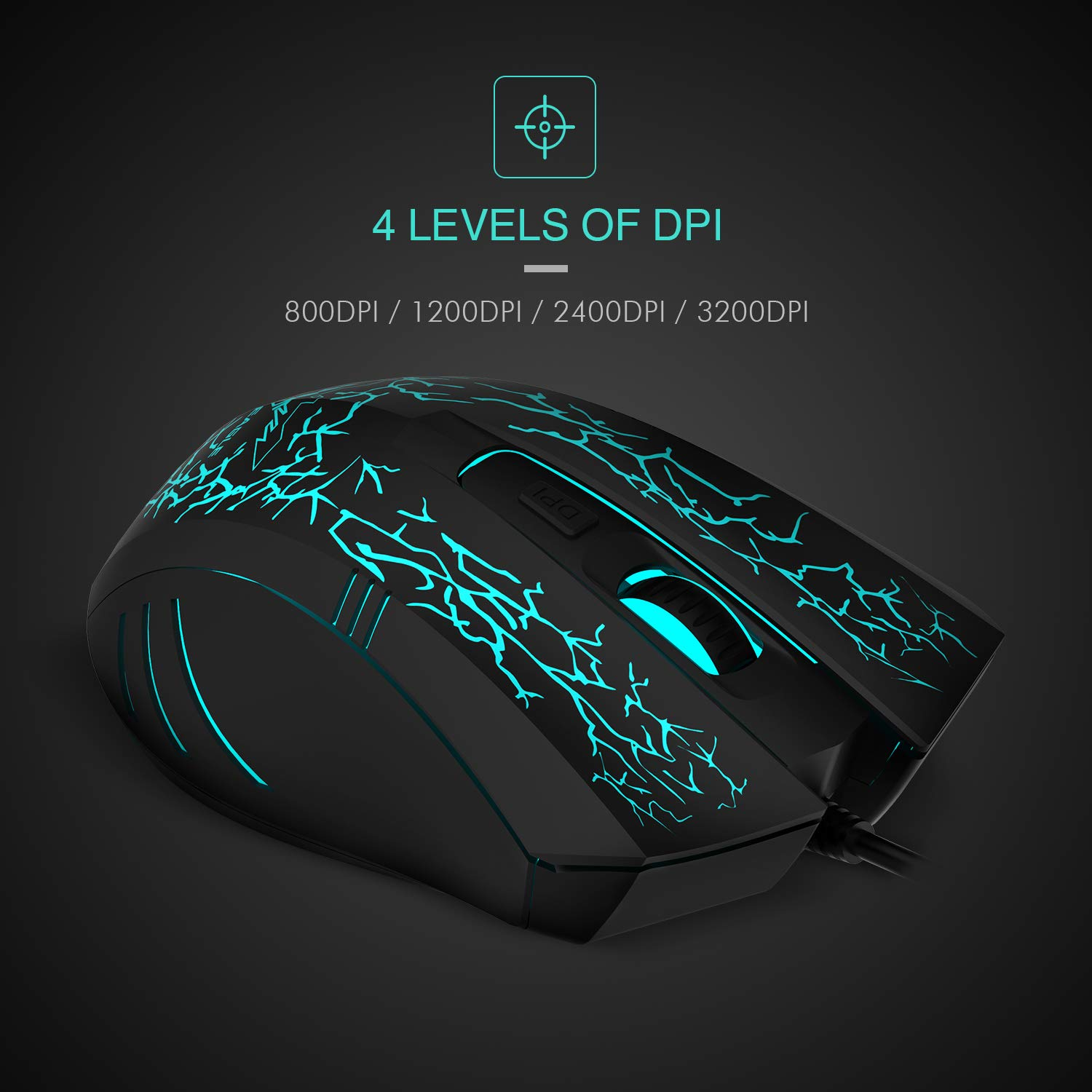 Havit HV-MS672 Ergonomic LED Stress-ease Wired Mouse with 7 Soothing LED Colors, 6 Buttons, [Importado de Reino Unido]: Amazon.es: Electrónica