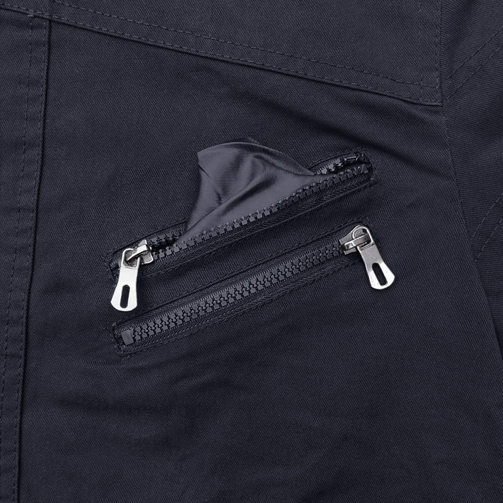 MAGCOMSEN Mens Combat Windbreaker Lightweight Cotton Slim Fit Cargo Bomber Jacket with Zip Pockets