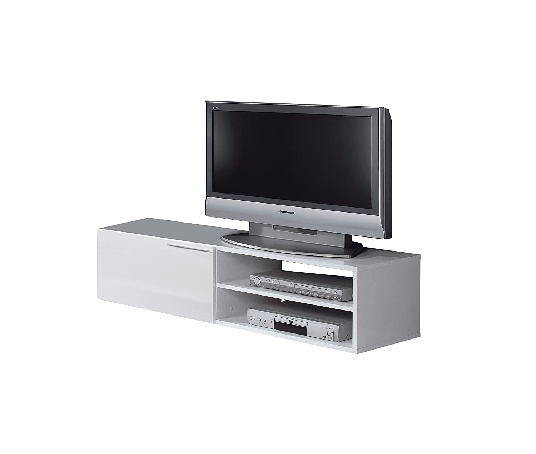 HABITMOBEL Mueble Modulo Mesa TV Blanco 35 x 130 x 42 cm: Amazon ...