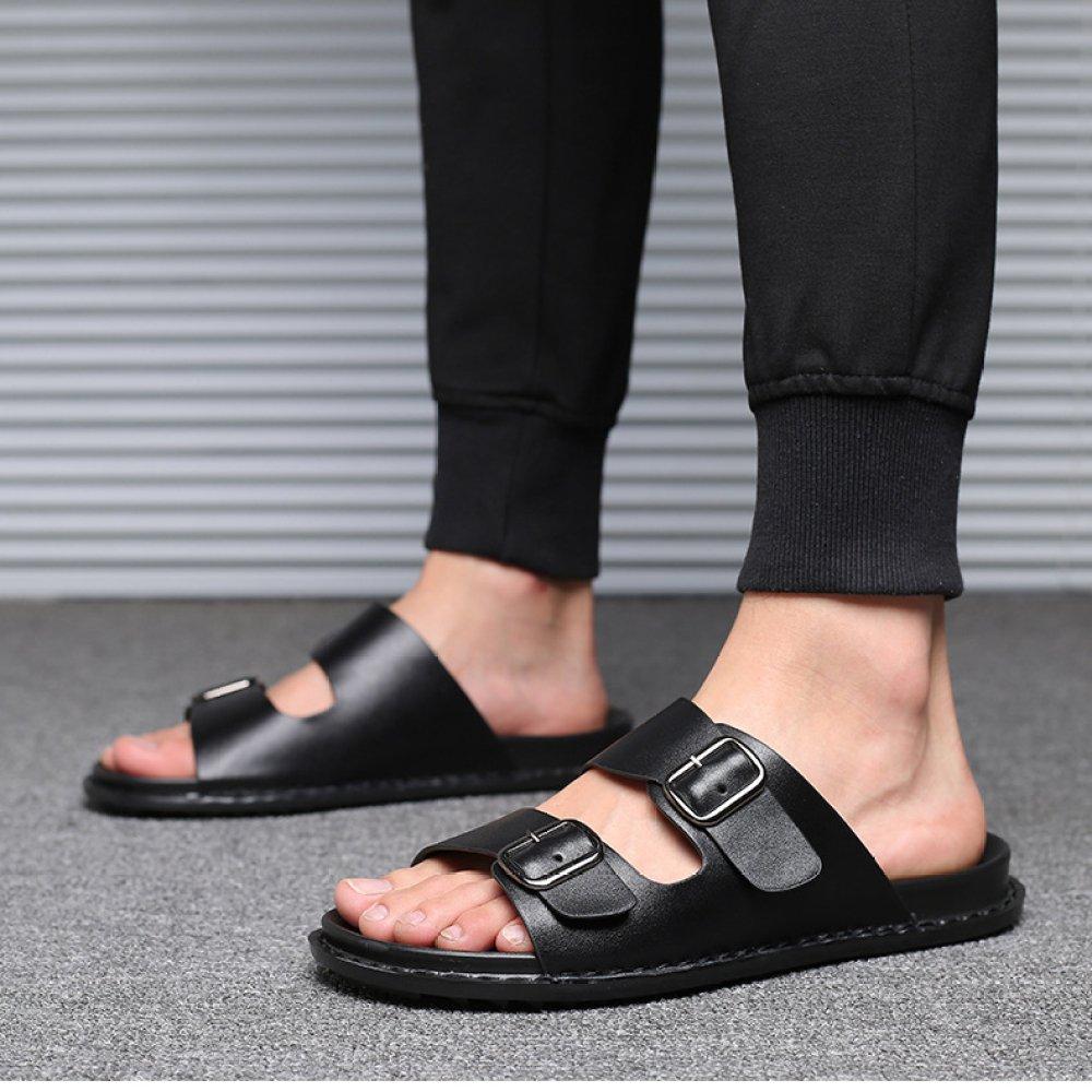 YXLONG Coole Hausschuhe Sommer Neue Koreanische Casual Hausschuhe (schwarz) Männer Strand Schuhe Herrenschuhe (schwarz) Hausschuhe schwarz f9023b