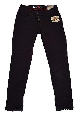f7d37879d134 Buena Vista Damen Jeans Malibu 7 8 Stretch Denim Schwarz XL  Amazon ...