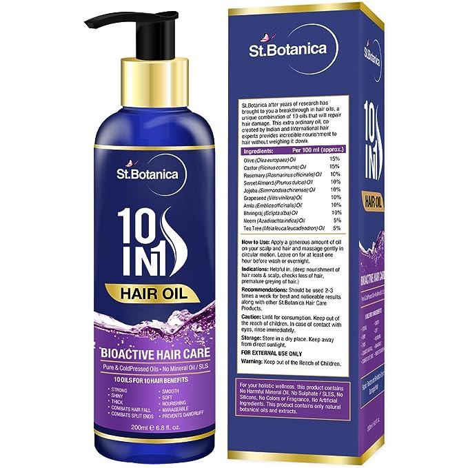 Botanica 10 en 1 pelo aceite (Jojoba, almendra, Castor, oliva, Romero, semilla de uva y más) 100 ml: Amazon.es: Salud y cuidado personal