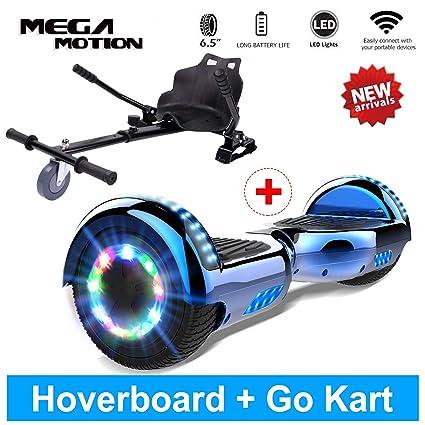 Mega Motion Hoverboard Luz LED Colorido con Altavoz de ...