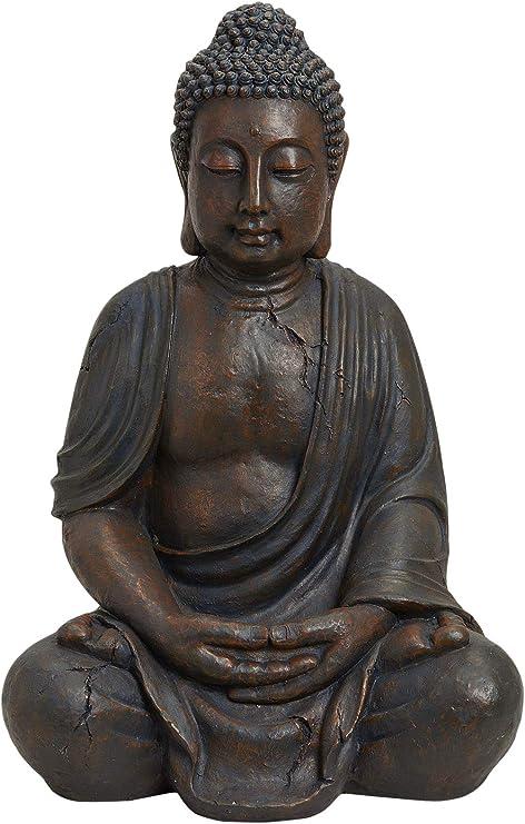 Worldconnection XXXL - Escultura de Buda Sentado (70 cm): Amazon.es: Jardín
