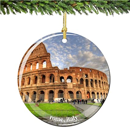 rome coliseum italy christmas ornament porcelain 275 italian christmas ornaments - Italian Christmas Ornaments