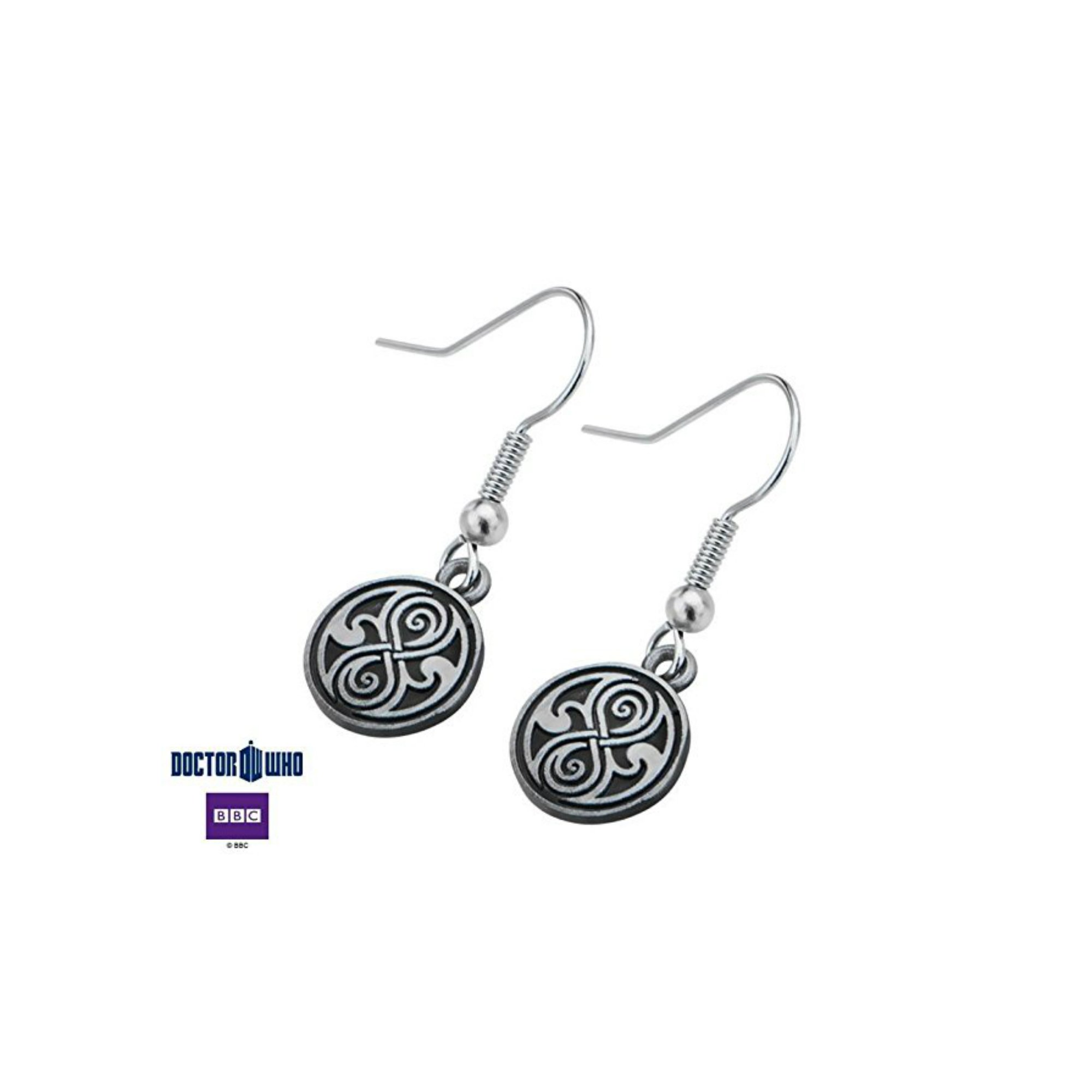 Doctor Who Seal of Rassilon Dangle Earrings - Licensed Jewelry