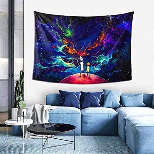 Amazon Com Starry Art Rick Mort Tapestry Wall Hanging Decoration For Home Bedroom Living Room Dorm Party 60x40 Inches Everything Else
