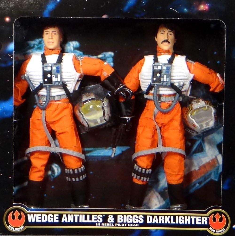 "Star Wars Wedge Antilles /& Biggs Darklighter 12/"" Kenner Action Figure Set FAO"
