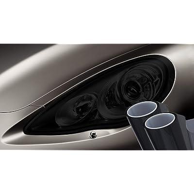 VViViD Dark Air-Tint Self-Adhesive Headlight Tinting Vinyl 12in by 24in 2-Roll Pack (Dark Black): Automotive