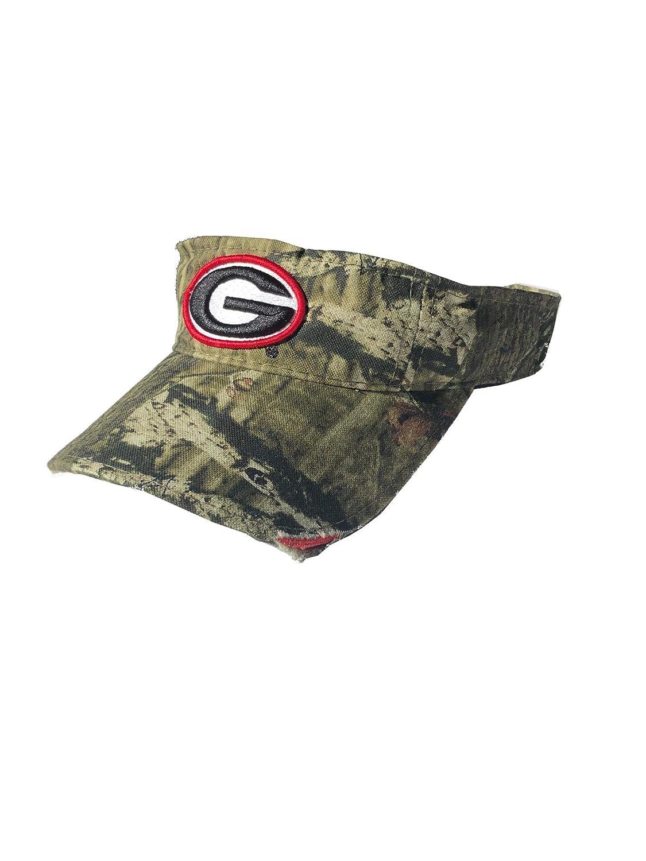 Georgia Bulldogs UGA Mossy Oak Camo Frayed Bill Visor Adjustable